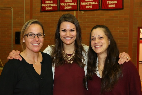 Ashley Herndon (right), seen last year with fellow coaches Heidi Wyman (left) and Breanne Smedley. (John Fisken photo)