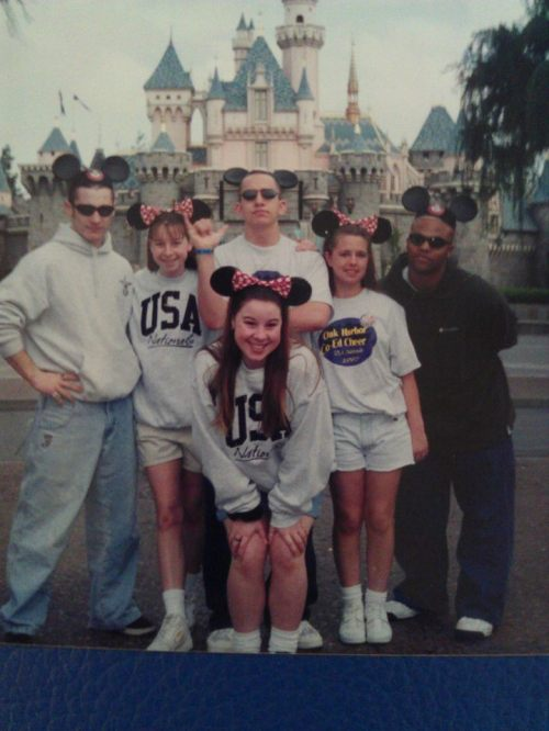 On a trip to Disneyland with some of his fellow Coupeville cheerleaders.