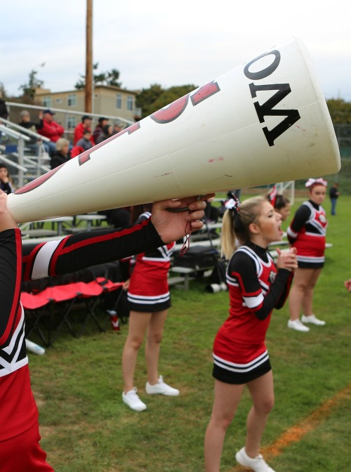 Wolf cheerleaders will not travel to Lake Washington Saturday with the football team. (John Fisken photo)