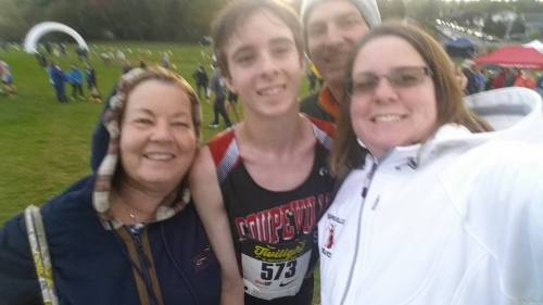 Conlisk and family, post race.