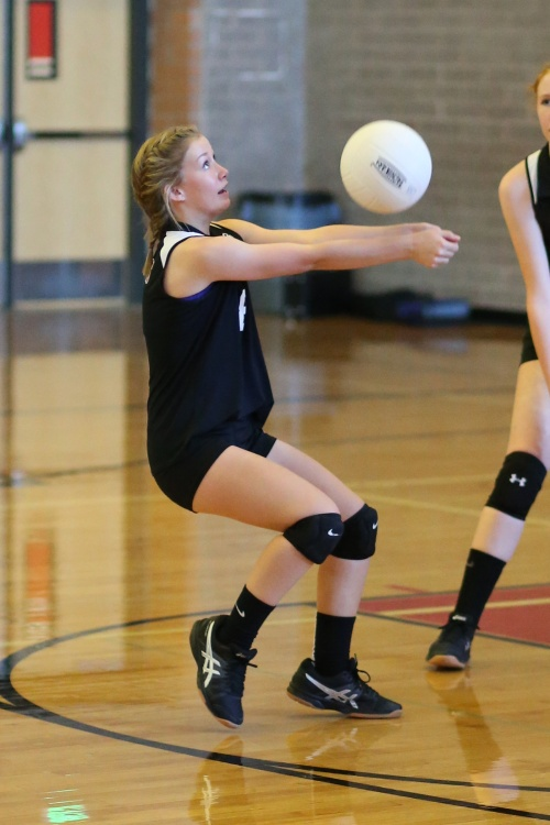 Whidbey Island spikers ages 10-18, like Lucy Sandahl, are invited to try out for a new (John Fisken photo)