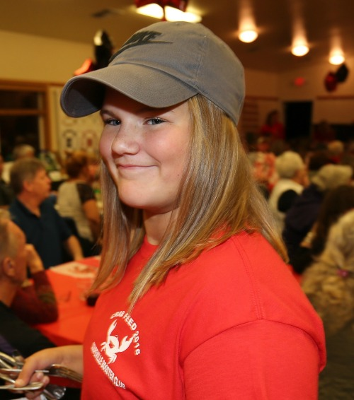 Genna Wright wants you to join the Coupeville Booster Club. You don't want to make Genna sad, do you? Yeah, I thought not. (John Fisken photo)