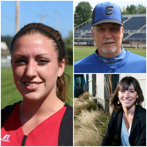 Clockwise, from left, Hall o' Fame inductees Maria Rockwell, Steve Konek, Sr. and Jess Roundy.