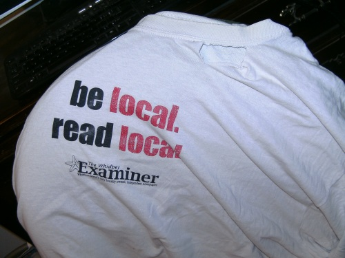 The Whidbey Examiner lasted 22 years, 17 with me as a freelancer. This shirt? Not as long. (David Svien photo)