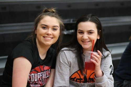 Wolf hoops stars Maddy Hilkey (left) and Kalia Littlejohn would like to hear your praise. (John Fisken photo)
