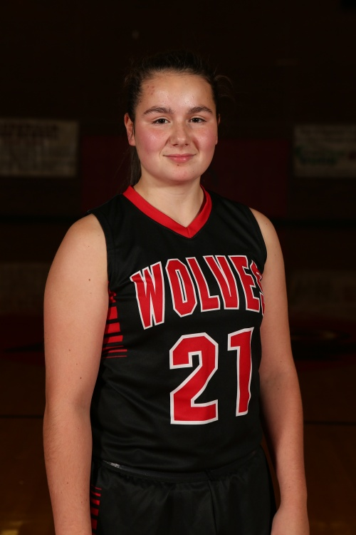 Mia Littlejohn piled up eight points, three rebounds and three assists as Coupeville won its 21st straight league game Tuesday night. (John Fisken photo)