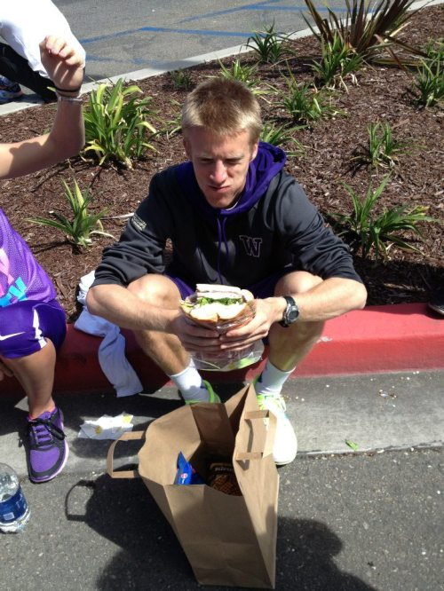 The only thing that tasted better than this sandwich to Tyler King? Winning state titles.