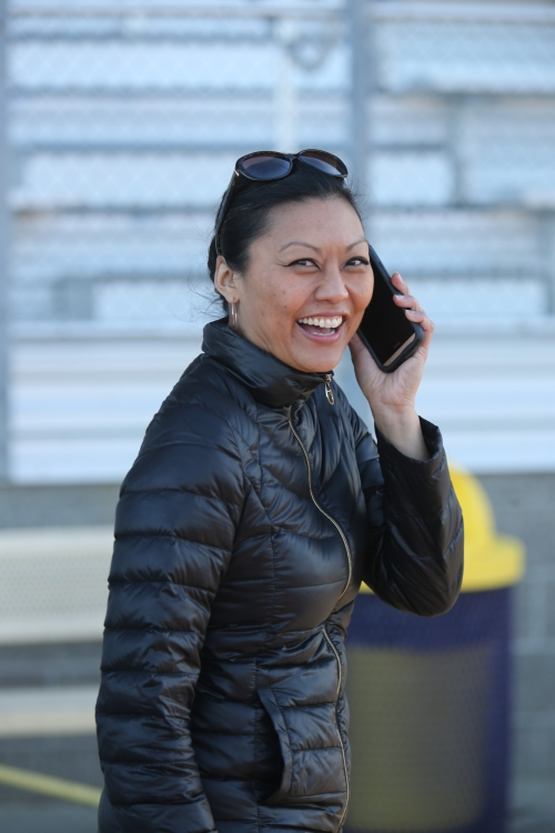 Eileen Stone and fellow CHS sports bigwigs are putting out the call for volunteers to work home track meets. (John Fisken photo)