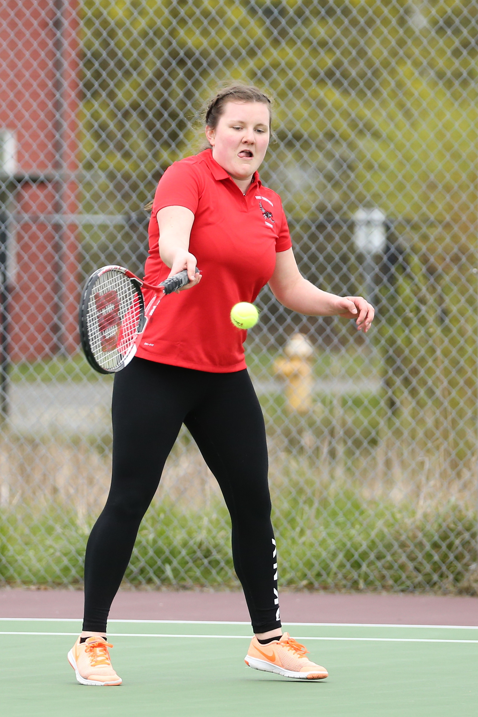 Vilma Jurma of Port Townsend, a Finnish foreign exchange student, placed  second in singles at the league tourney.